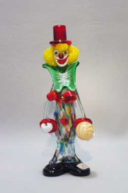Murano Art Glass Clowns from MuranoClowns.us - FP15