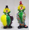Murano Art Glass Clowns - FP18 and FP17