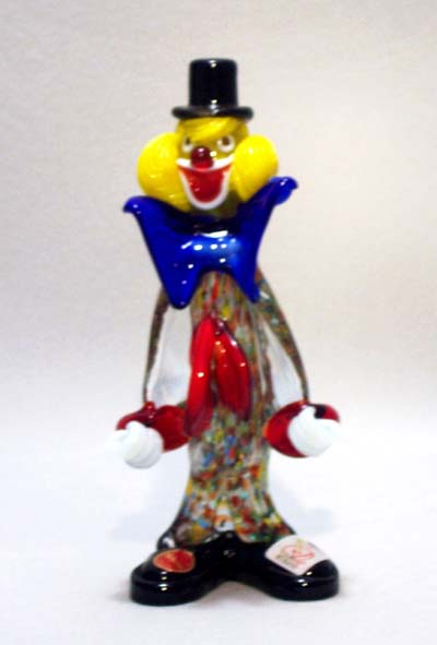 Murano Art Glass Clowns from MuranoClowns.us - FP-04A